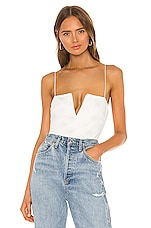 h:ours Tris Bodysuit in White