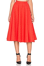 Spoke Flare Skirt in Red