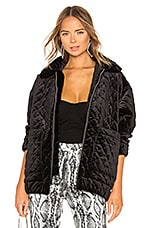 I.AM.GIA Contraband Velvet Jacket in Quilted Black