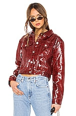 I.AM.GIA Tyler Faux Leather Jacket in Red Croc