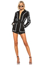 I.AM.GIA Trexler Romper in Black & Reflective