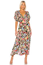 ICONS Objects of Devotion Sweetheart Jumpsuit in Black Floral