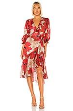 ICONS Objects of Devotion Flamenco Dress in Oversized Poppy