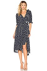 ICONS Objects of Devotion The Cha Cha Wrap Dress in Polka Dot