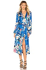 ICONS Objects of Devotion The Draper PJ Robe in Chinoiserie Blue Bird