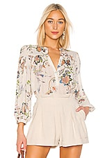ICONS Objects of Devotion Modern Poet Blouse in Ivory Jaipur Floral