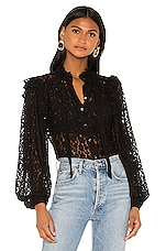 ICONS Objects of Devotion Secretary Blouse in Black Lace