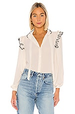 ICONS Objects of Devotion Secretary Blouse in Ivory
