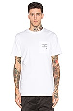 Printed Pocket Tee in White