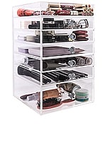 Impressions Vanity Diamond Collection 7-Tier Makeup Organizer in Clear