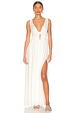 Anjeli Empire Maxi Dress in White