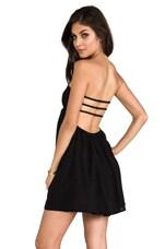 Sunny Smocked Bandeau Dress in Black
