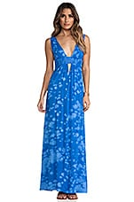 Anjeli Empire Maxi Dress in Blue Salt