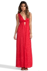 Anjeli Empire Maxi Dress in Pink Salt