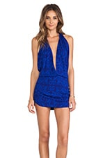 X REVOLVE Joey Deep V Halter Dress in Antik Cobalt