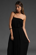 Moana Strapless Maxi Dress in Black