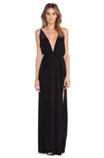 X REVOLVE Isla Maxi Dress in Black & Crochet