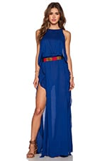 Twiga Open Side Maxi Dress in Blue