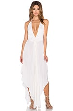 Imani Solid Halter Maxi Dress in Ivory