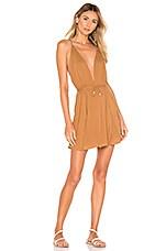 Indah Harlem Layered Mini Dress in Caramel