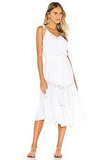 Indah Rachel 70s Peasant Dress in White