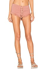 Vibe Lace Up Short in Dusty Rose