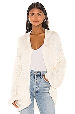 Indah Cayenne Solid Oversized Cardigan in Opal