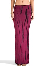 Montana Maxi Tube Skirt in Streak Red