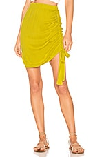 Indah Grace Side Cinch Skirt in Citrus