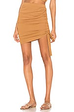 Indah Grace Side Cinch Skirt in Caramel