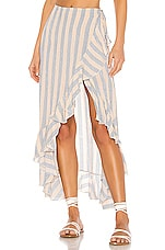 Indah Reese Wrap Skirt in Sunflower Stripe