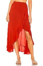 Indah Reese Wrap Skirt in Fire