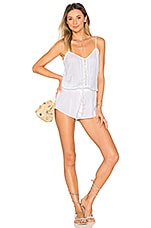 Indah Saxon Romper in White