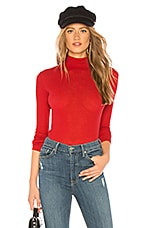Indah Chef Solid Ribbed Turtleneck in Kiss
