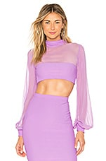 Indah X REVOLVE Cher Crop Top in Lilac