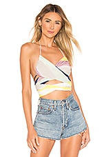 Indah Shipwreck Halter Top in Tropical Stripe