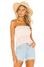 Indah Greta Strapless Top in Opal