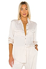 Indah Emma Solid Long Sleeve Button Up Shirt in Opal