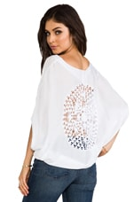 Arica Loose Blouse in White