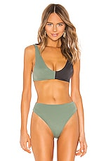 Indah Shape Top in Mint Colorblock