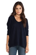 Whisper Dos-nu Cashmere Sweater in Navy