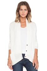 Whisper Cashmere Cardigan in Ivory