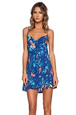 90s Dress in Blue Floral