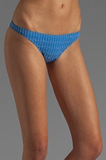 Pucker Skinny Brief Bikini Bottom in Blue