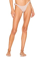 In Your Arms Mind Flowers Bikini Bottom in Rose Gold