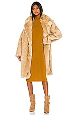 IRO Gallega Faux Fur Coat in Beige