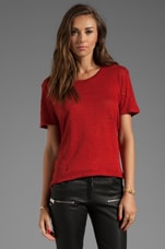 Clay Tee Shirt in Rouge