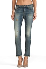 Coy Ajuste Low Rise in Denim Blue