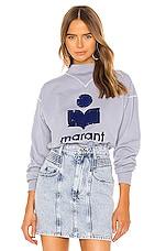 Isabel Marant Etoile Moby Sweatshirt in Light Blue