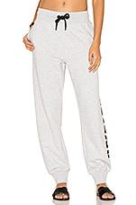 Casual Sweatpants in Grey & Black Logo